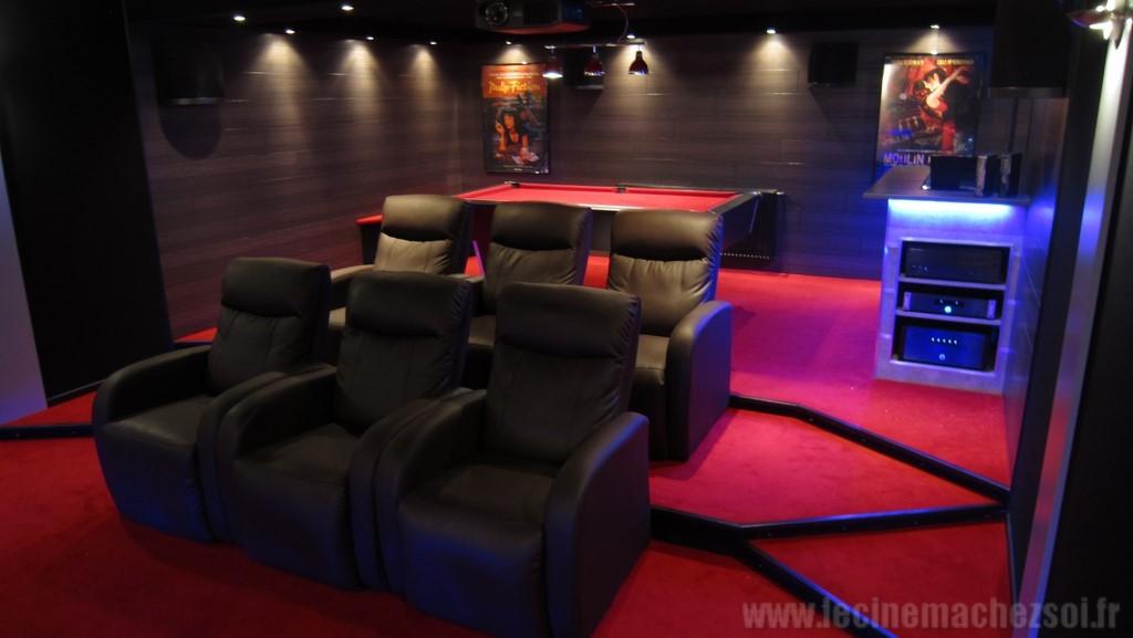 Exceptionnel Salle Ciné + Billard (maj du 16/03 en 7.1 + bloc HC Emotiva  PE92
